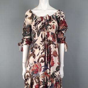 Diane Von Furstenberg SILK Peasant Blouson Dress